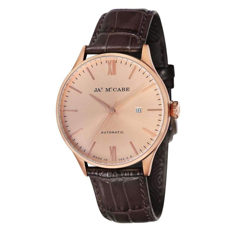 James McCabe London Automatic Leather Mens Watch - JM-1025-06
