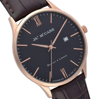 James McCabe London Slim Leather Mens Watch - JM-1016-02