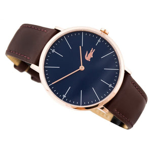 Lacoste Moon Brown Leather Mens Watch - 2010871