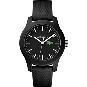 Lacoste The .12.12 Black Silicone Watch - 2000956