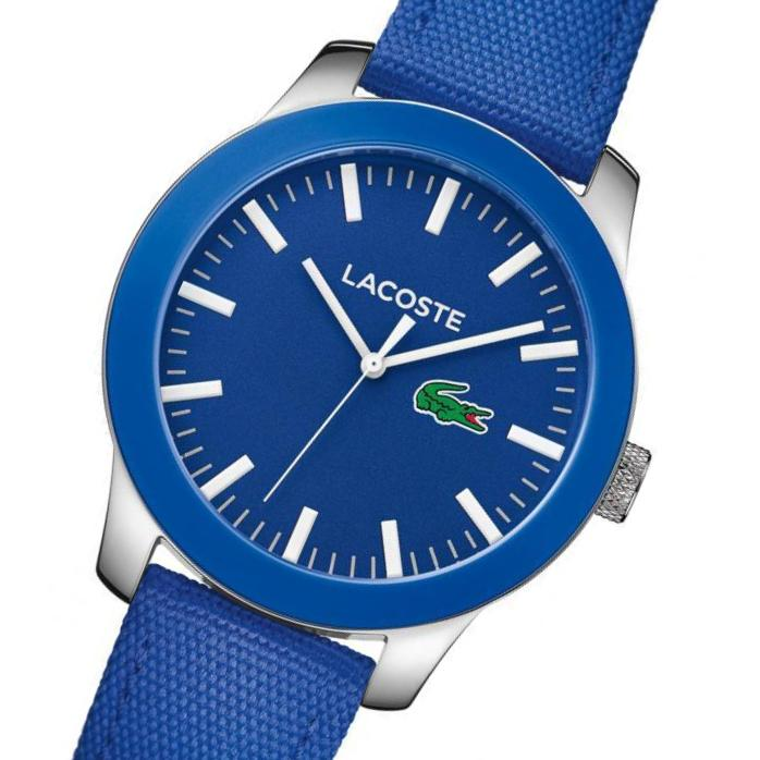 Lacoste The .12.12  Men's Blue Woven Nylon Watch - 2010921