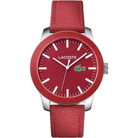 Lacoste The .12.12 Men's Red Woven Nylon Watch - 2010920