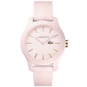 Lacoste The .12.12 Pink Silicone Ladies Watch - 2001003