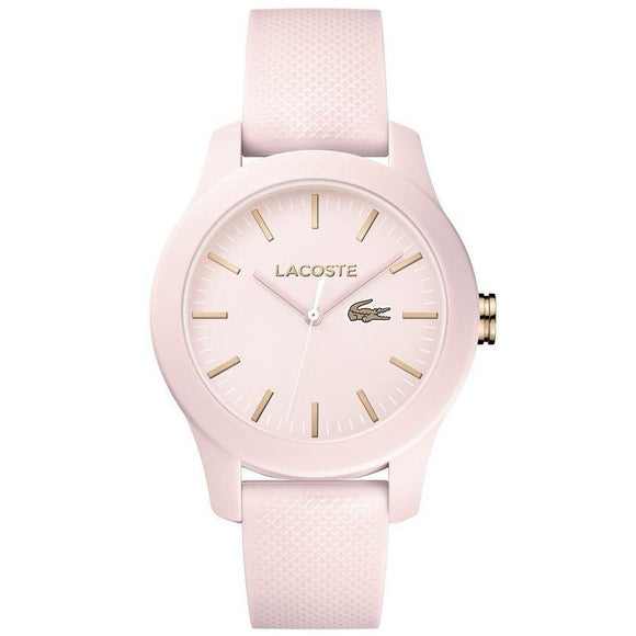 Lacoste The .12.12 Pink Silicone Ladies Watch - 2001003-The Watch Factory Australia