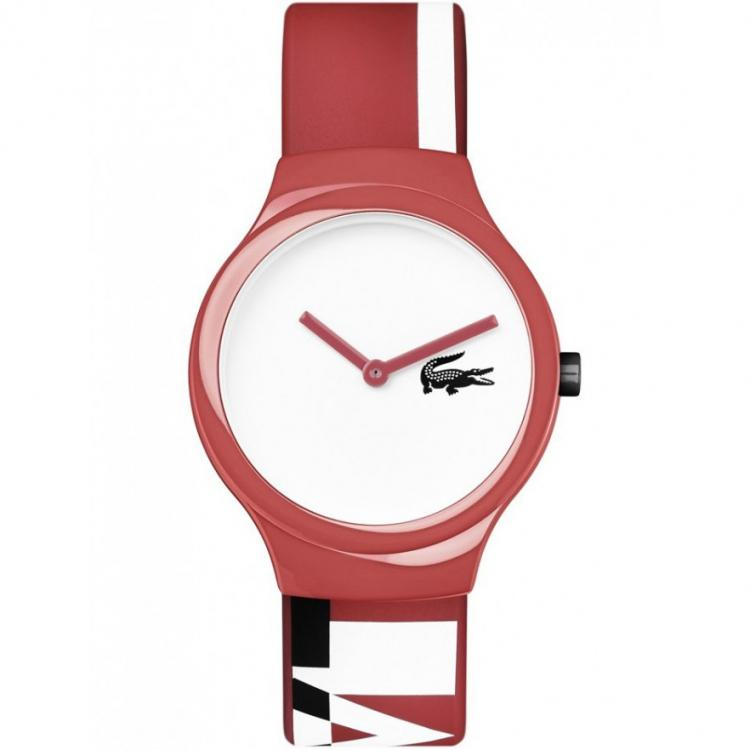 Lacoste The Goa Red, White & Navy Silicone Watch - 2020130