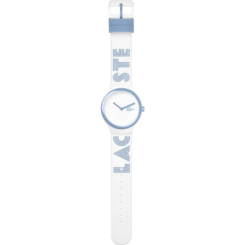 Lacoste The Goa White & Blue Silicone Watch - 2020105