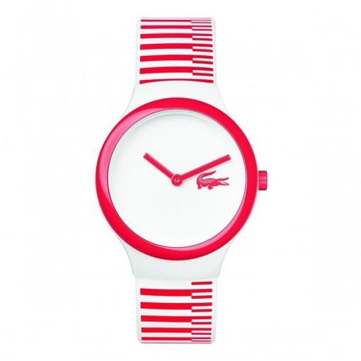 Lacoste The Goa White & Red SIlicon Watch - 2020116