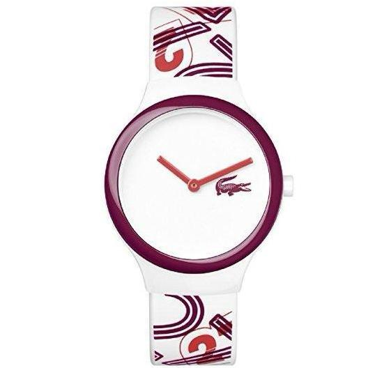 Lacoste The Goa White & Red Silicone Watch - 2020127-The Watch Factory Australia