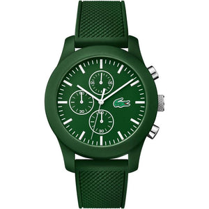 Lacoste.12.12 Chronograph Green Silicone Mens Watch - 2010822