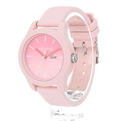 Lacoste.12.12 Pink Silicone Ladies Watch - 2000988