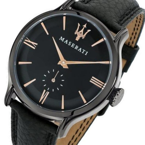 Maserati Epoca Men's Black Leather Watch - R8851118004