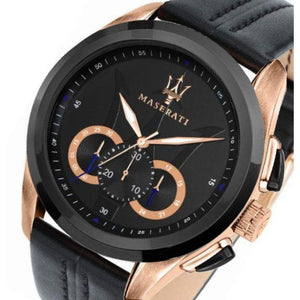 Maserati Traguardo Leather Men's Watch - R8871612025