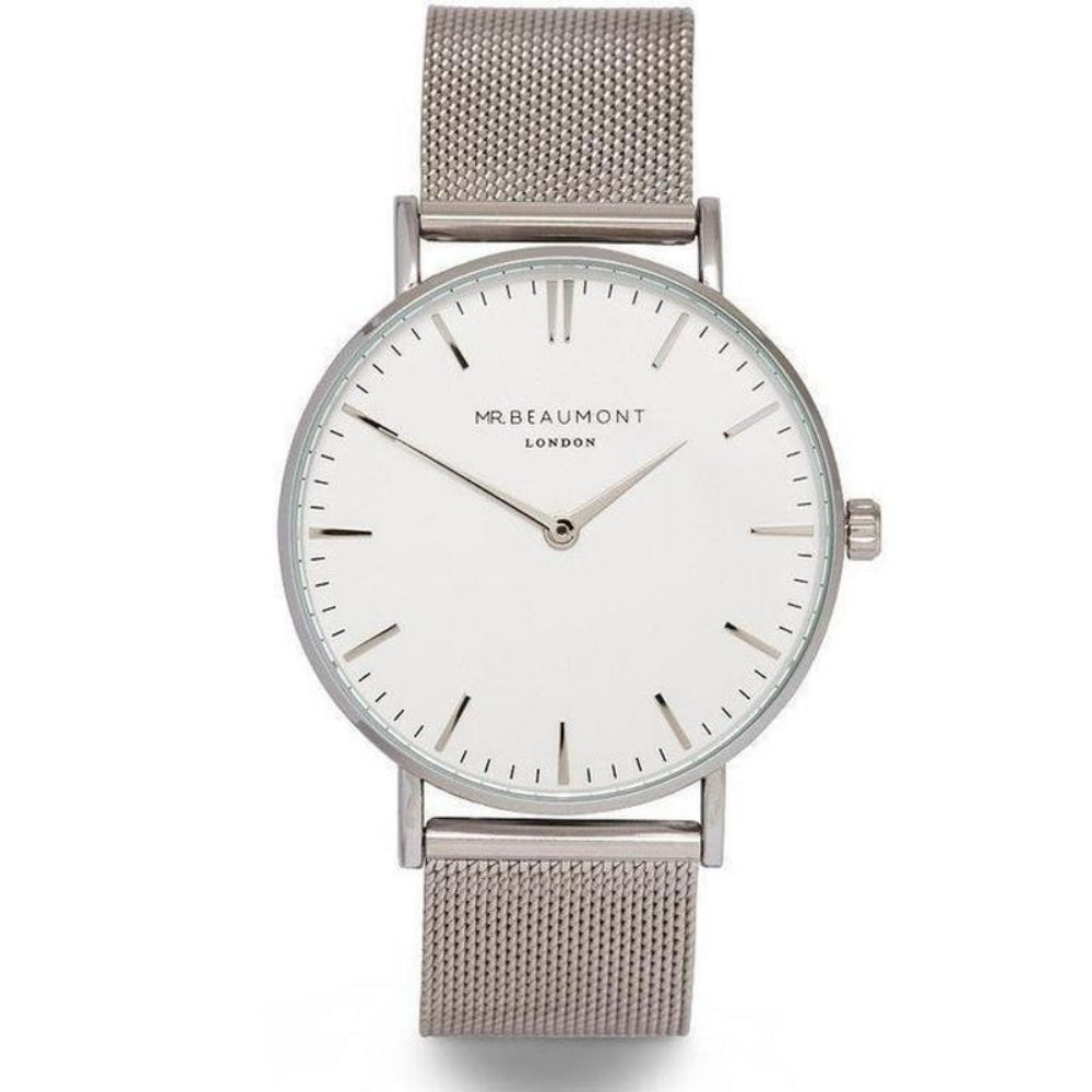 Mr. Beaumont Men's Steel Mesh Watch