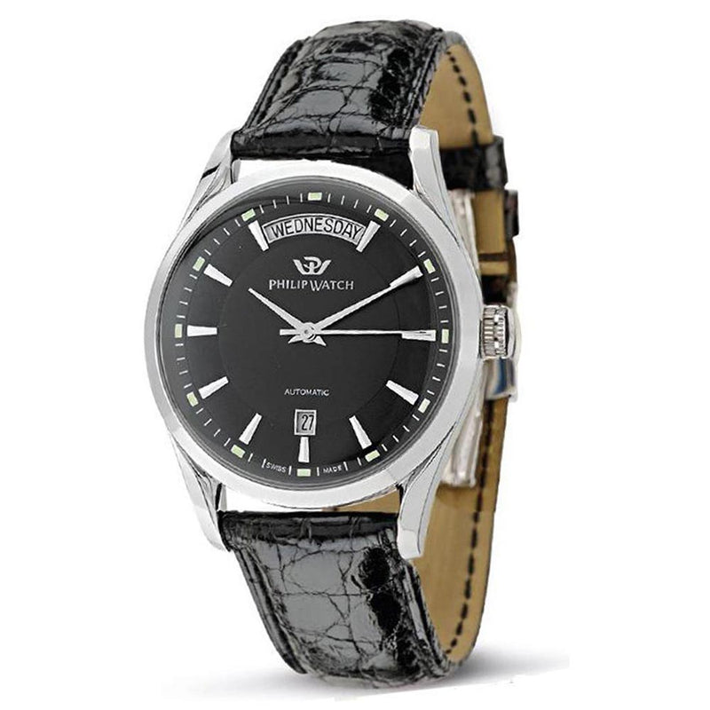 Philip Automatic Leather Mens Swiss Made Watch - R8221680002