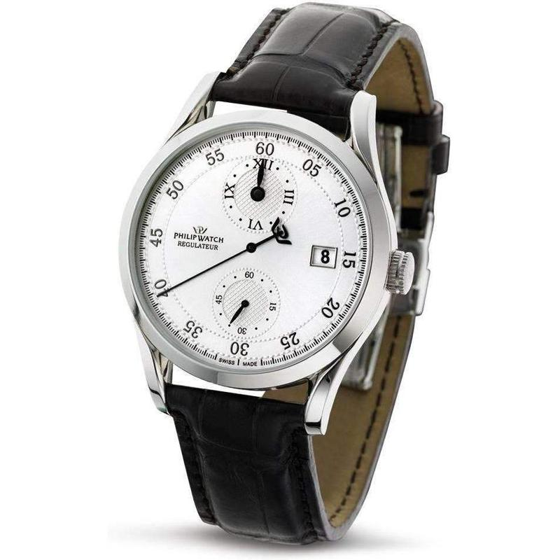 Philip Watch Automatic Regulator Leather Mens Watch - R8221180015