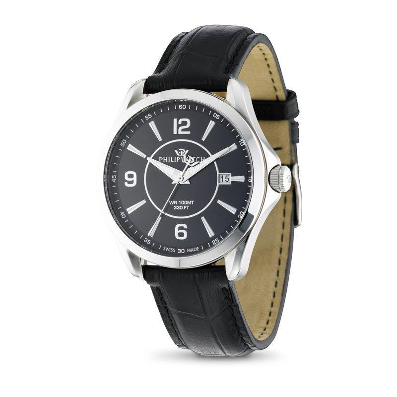 Philip Watch BLAZE Men's Swiss Quartz Leather Watch - R8251165001