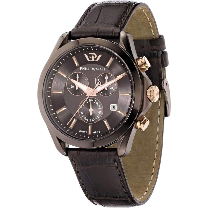 Philip Watch Chronograph Leather Mens Watch - R8271665003