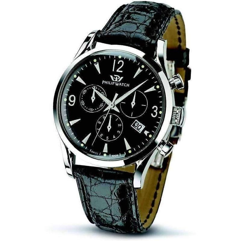 Philip Watch Chronograph Leather Mens Watch - R8271908001