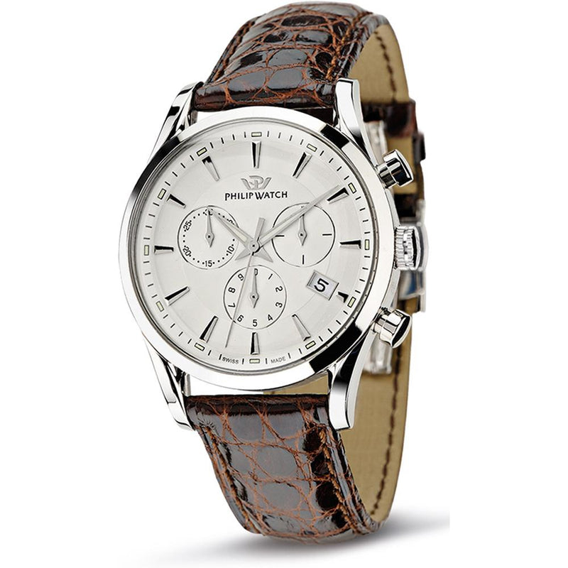 Philip Watch Chronograph Leather Mens Watch - R8271908003