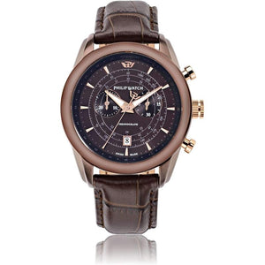 Philip Watch Chronograph Leather Mens Watch - R8271996005