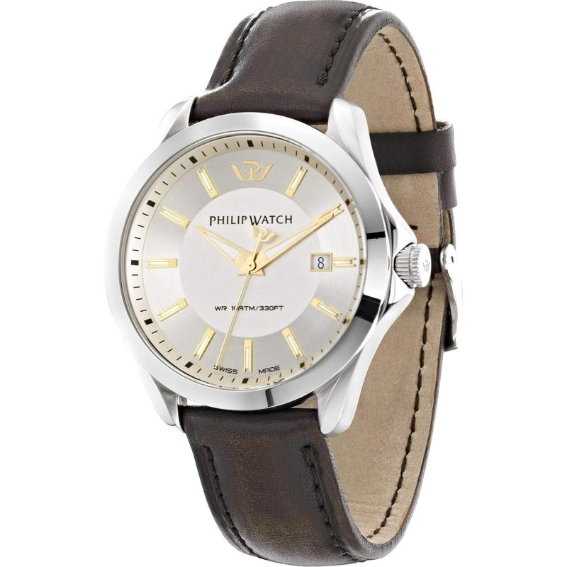 Philip Watch Leather Mens Watch - R8251165002