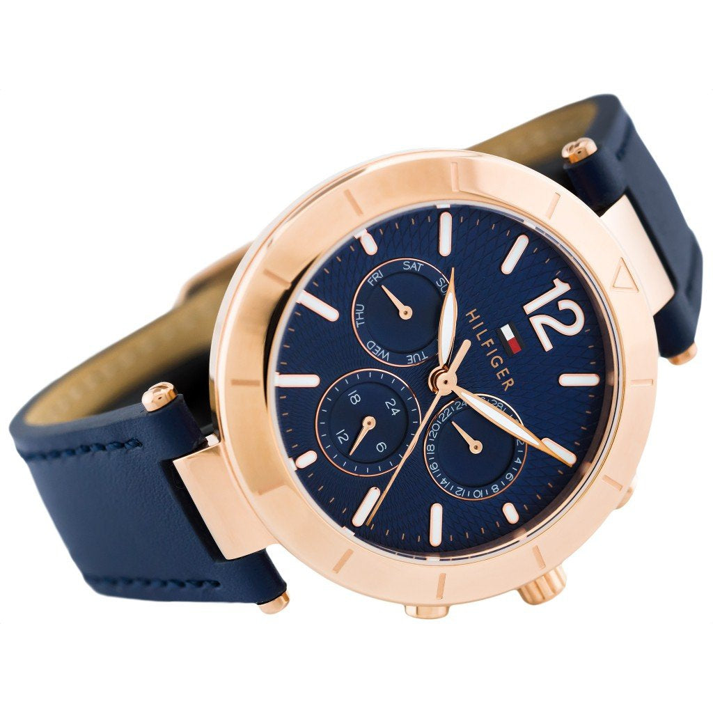 02002bdfa Tommy Hilfiger Women's Navy Leather Watch - 1781881 – The Watch ...