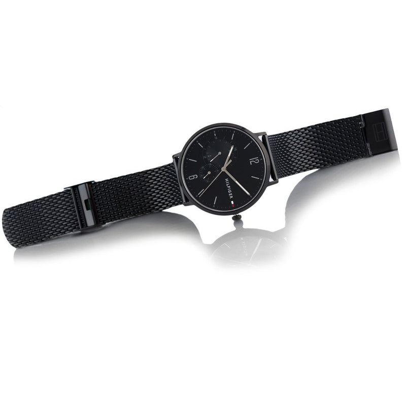 Tommy Hilfiger Casual Men's Black Mesh Watch - 1791507