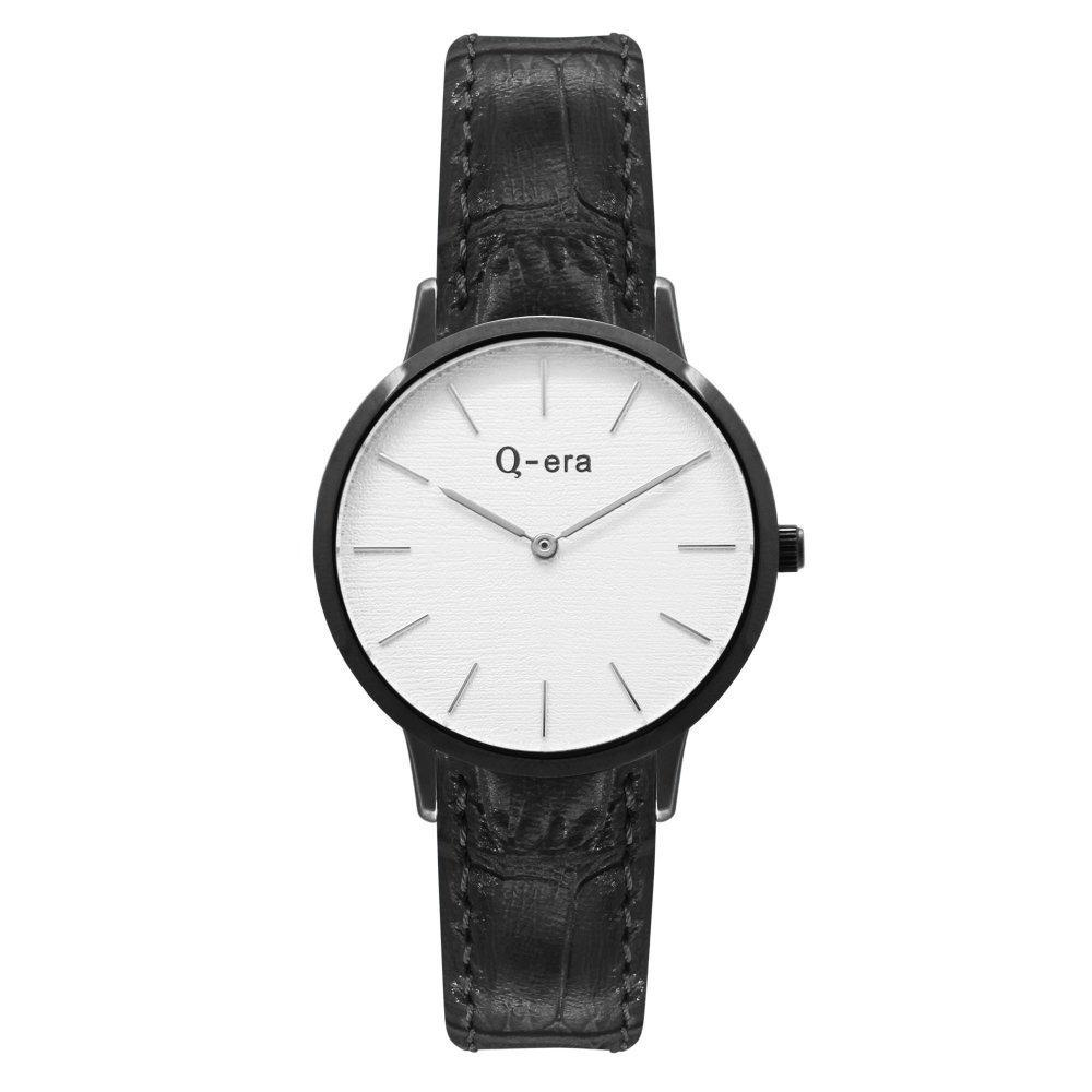 Q-era Black Leather Women's Watch - QV2801-24