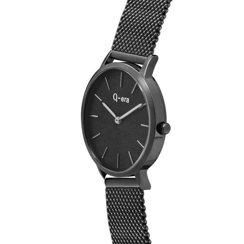 Q-era Black Mesh Women's Watch - QV2801-112