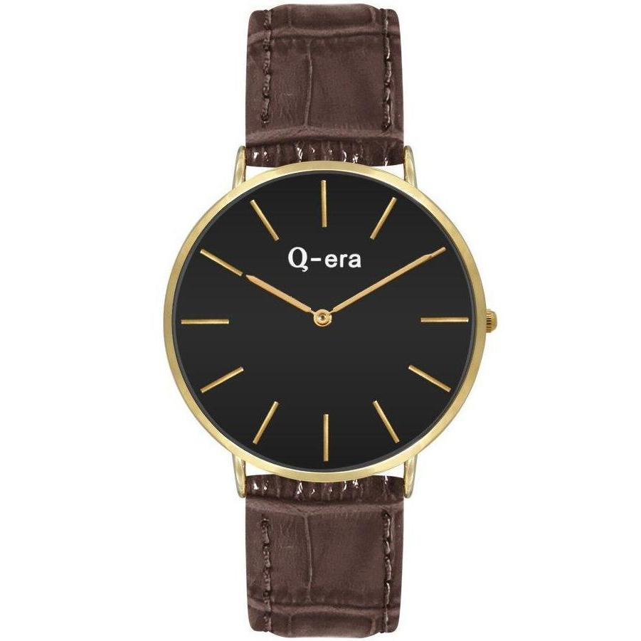 Q-era Brown Leather Women's Watch - QV2804-1