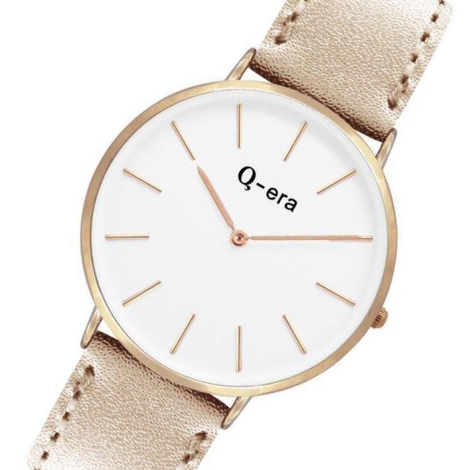 Q-era Metallic Leather Women's Watch - QV2804-7