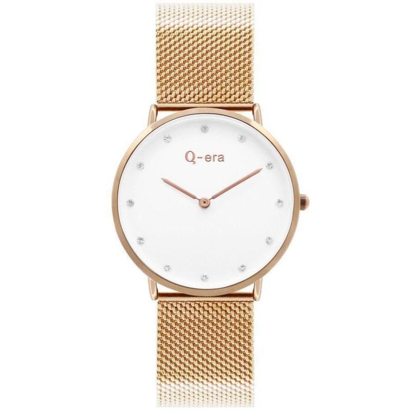 Q-era Rose Gold Mesh Women's Watch - QV2802-34