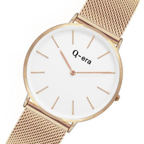Q-era Rose Gold Mesh Women's Watch - QV2804-33