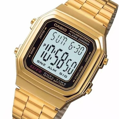 Casio Gold Digital Vintage Style Unisex Watch - A178WGA-1