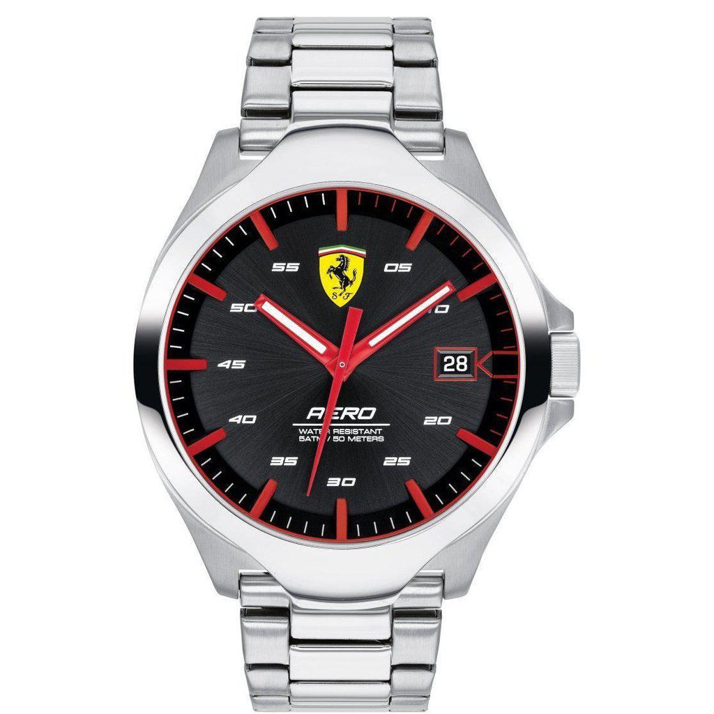Scuderia Ferrari Aero Steel Men's Watch - 830507