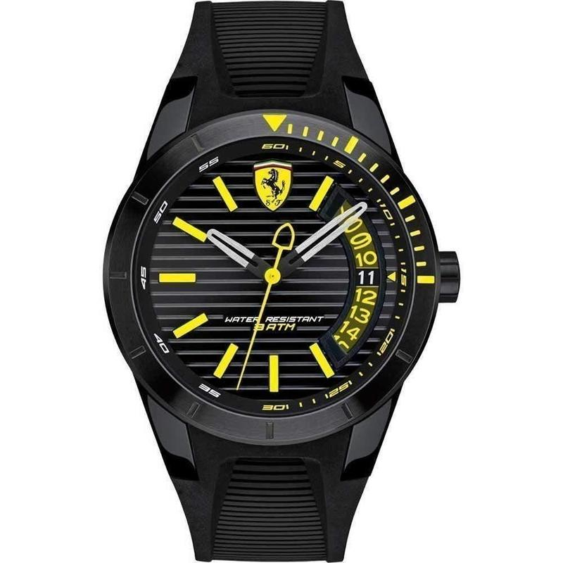 Scuderia Ferrari Men's Redrev T Black Silicone Watch - 830426