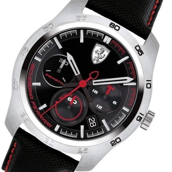 c75445b56 Scuderia Ferrari Primato Leather Mens Watch - 830444 – The Watch ...