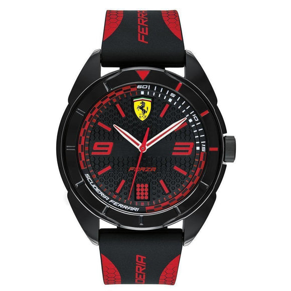 Scuderia Ferrari Red Silicone Men's Watch - 830515