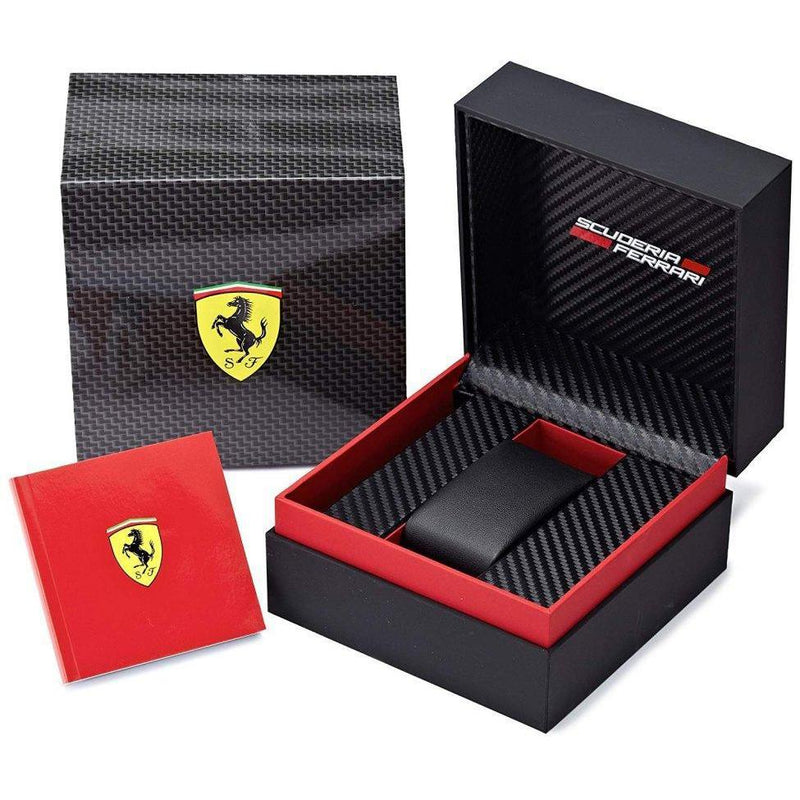 Scuderia Ferrari Redrev T Black Silicone Mens Watch - 830428