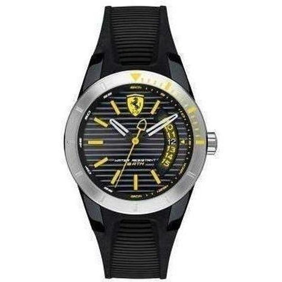 Scuderia Ferrari Redrev T Black Silicone Unisex Watch - 840015-The Watch Factory Australia