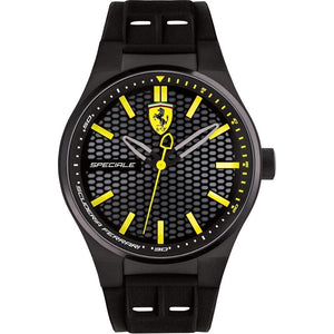 Scuderia Ferrari Speciale Black Silicone Mens Watch - 830354