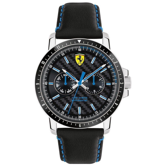 Scuderia Ferrari Turbo Leather Men's Watch - 830448