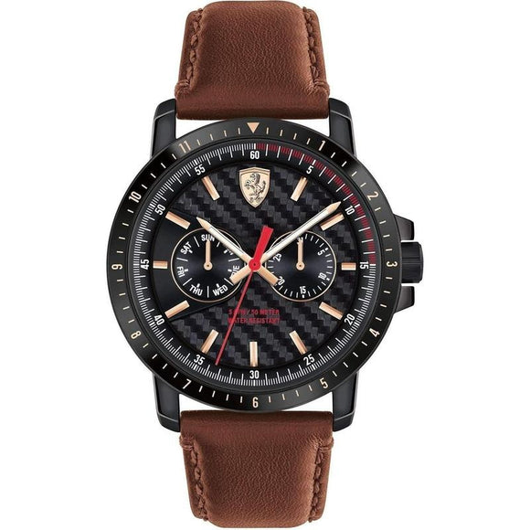 Scuderia Ferrari Turbo Leather Mens Watch - 830452