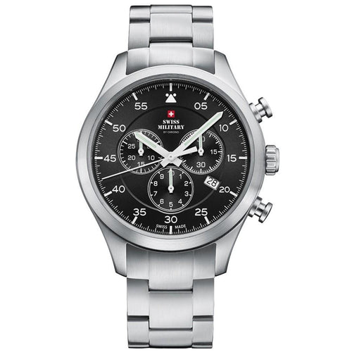 Swiss Military Steel Chrono Sports Men's Watch - SM34076.01