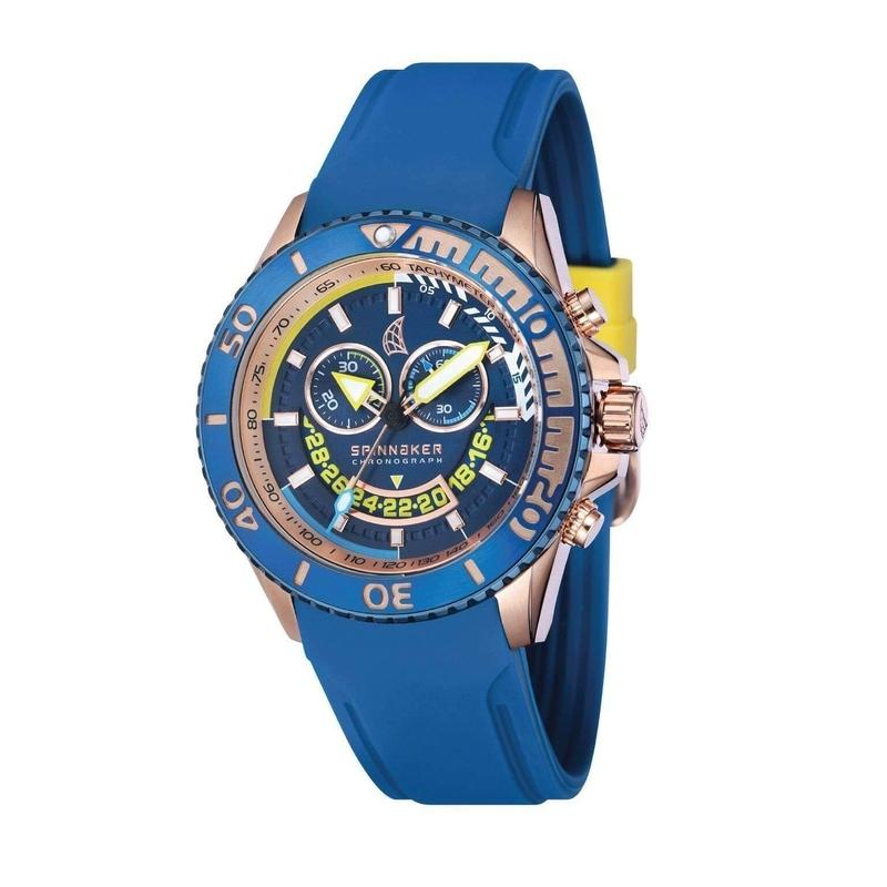 Spinnaker Amalfi Chrononograph Silicone Mens Watch - SP-5021-0B