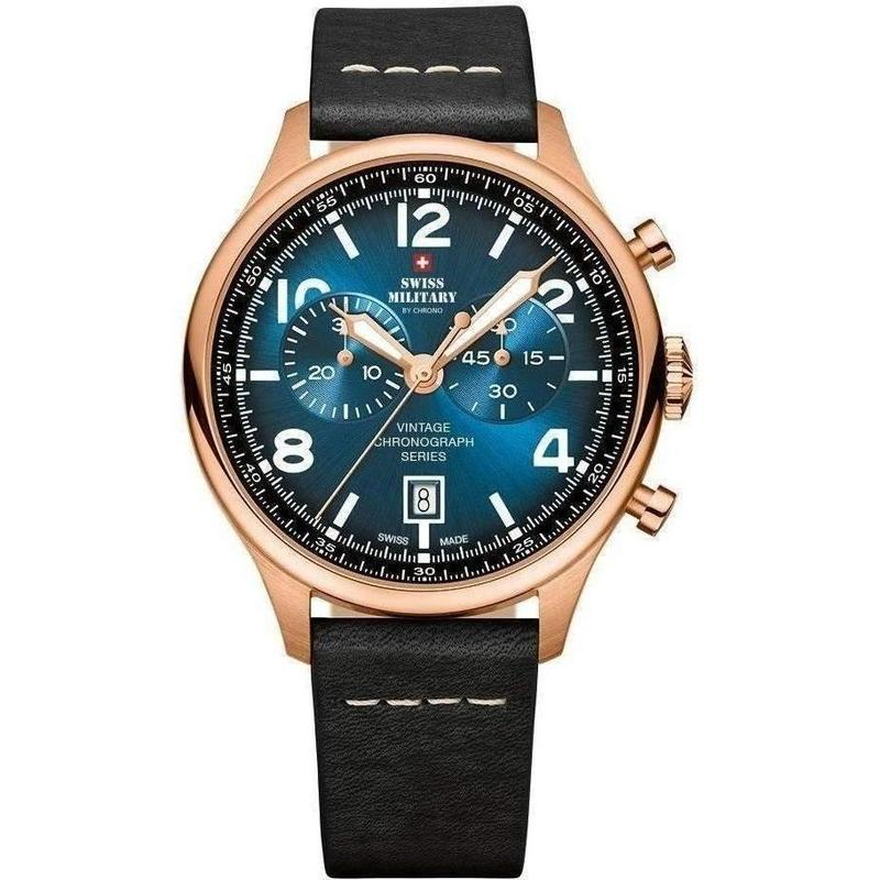 Swiss Military Chronograph Leather Mens Watch - SM30192.06