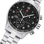 Swiss Military Chronograph Stainless Steel Men's Watch - SM34012.01