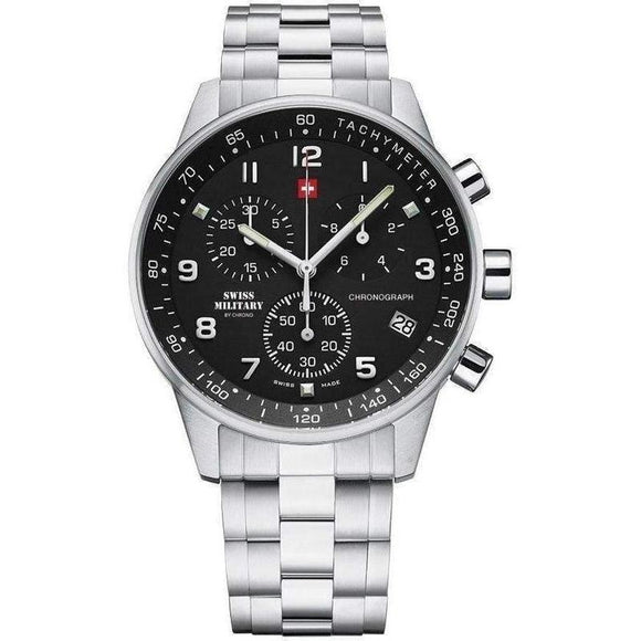Swiss Military Chronograph Stainless Steel Mens Watch - SM34012.01