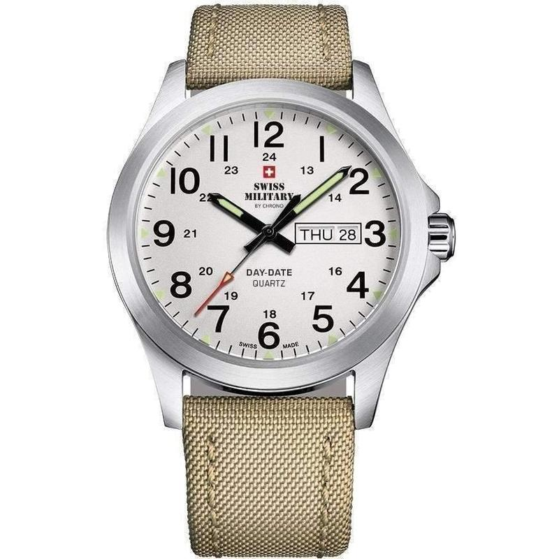 Swiss Military Fabric Strap Mens Watch - SMP36040.06