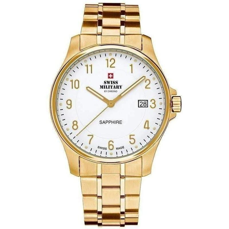 Swiss Military Gold Stainless Steel Mens Watch - SM30137.05